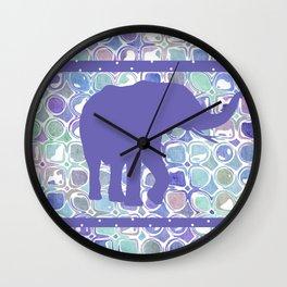 Abstract Purple Elephant Wall Clock