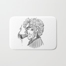 London Smoking Habit (Lineart) Bath Mat