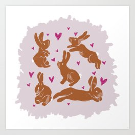 Bunny Love - Easter edition Art Print