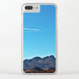 West Texas Hills Clear iPhone Case