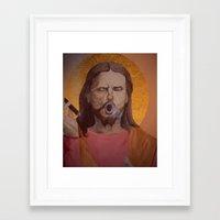 christ Framed Art Prints featuring Jesus Christ by Ethan Hellexon