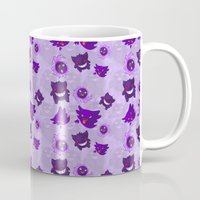 gengar Mugs featuring Kanto Ghost Party by Ouroboros Ink