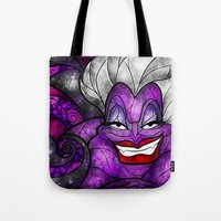 mandie manzano Tote Bags featuring The Sea Witch by Mandie Manzano