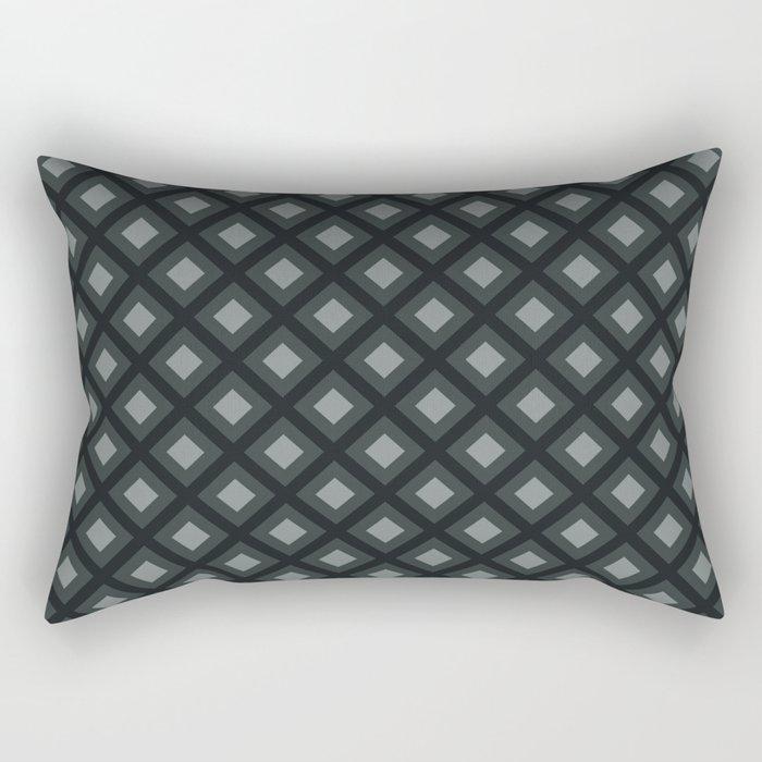 PPG Night Watch Pewter Green Zigzag, Diamond Square Pattern Rectangular Pillow