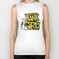 tank girl Biker Tanks featuring Tank Girl Pinup by AngoldArts