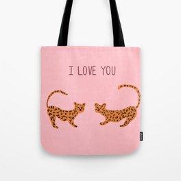 I love you cute tiger cubs  Tote Bag