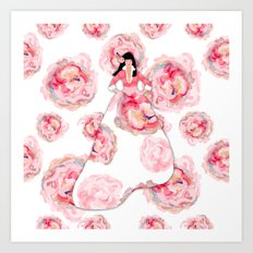 Fashion Blooms Art Print