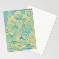 Geometromorphic Sky Stationery Cards