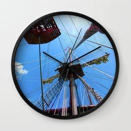 Mast and Line Rigging on El Galeon. Wall Clock