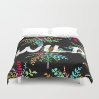 into the wild Duvet Covers featuring Wild by Camila Escat