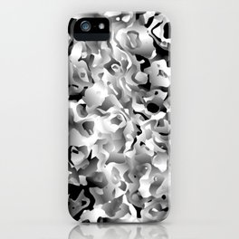 Liquid Flowers Black and White iPhone Case