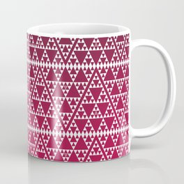 Triangles in triangles on red Coffee Mug