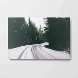 Winter Drive III Metal Print