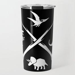 Hipster Dinosaurs Logo Travel Mug