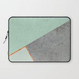 MINT COPPER GRAY GEOMETRIC PATTERN Laptop Sleeve