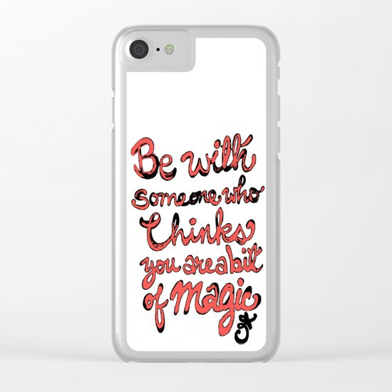 Be With Someone Peachy!!! Clear iPhone Case