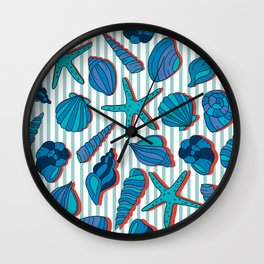 summer time blue Wall Clock