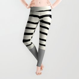 Storm Grey x Stripes Leggings