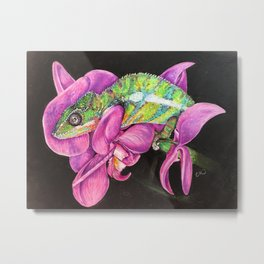 Mort the Chameleon Metal Print