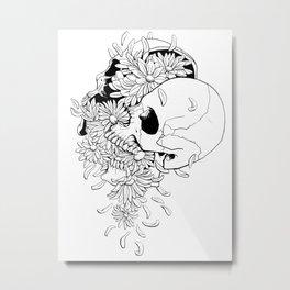 Skull #9 (Pushing Up Daisies) Metal Print