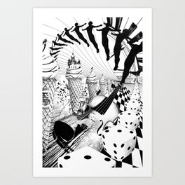 PLEASE, COME IN CONTACT OUR PLANET EARTH Art Print
