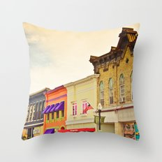 Small Town Colors Throw Pillow
