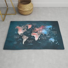 world map 45 Rug