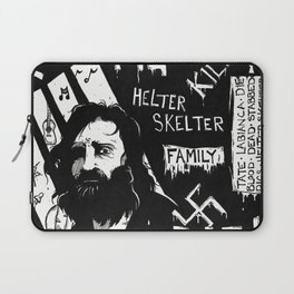 Serial Killer 3: Manson (b&w) Laptop Sleeve
