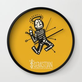 St. Sebastian - Patron Saint of Resistance Wall Clock
