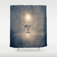 shining Shower Curtains featuring shining by Viviana Gonzalez