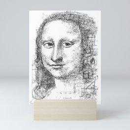 Math Mona Lisa Mini Art Print