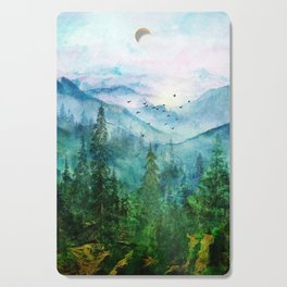 Spring Mountainscape Cutting Board