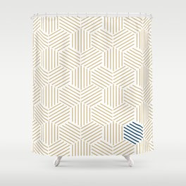 Hive Gold #397 Shower Curtain