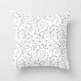Speckles I: Black on White Throw Pillow