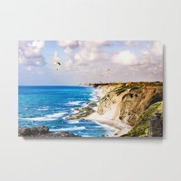 Paragliding Flying  Photography Metal Print