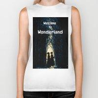wonderland Biker Tanks featuring Wonderland by Design4u Studio