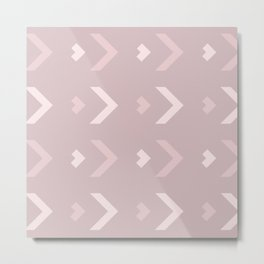 Blushing Pink Chevron Metal Print