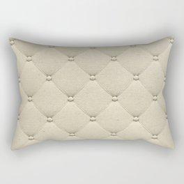 Cream Quilted Rectangular Pillow
