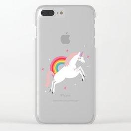 Magical Unicorn Clear iPhone Case