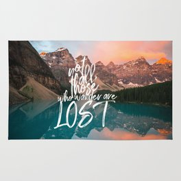 Not All Those Who Wander Are Lost Banff Canada Rug