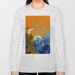 """Wings of Victory"" Art Deco Design Long Sleeve T-shirt"