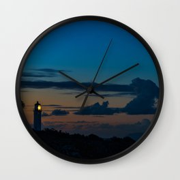 The Lighthouse on the Point Wall Clock