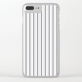 MAUVE GRAY STRIPES Clear iPhone Case