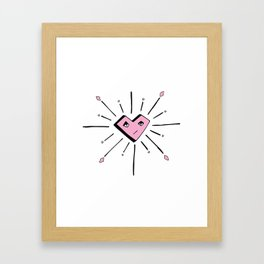 Irreverent Heart Framed Art Print