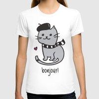 bonjour T-shirts featuring Bonjour by Nora Jartan