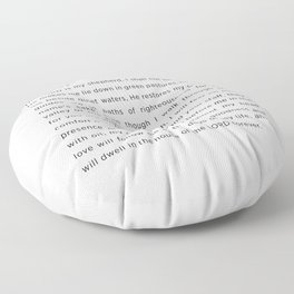 Psalm 23 The LORD Floor Pillow