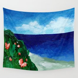 Pretty Skies, Beaches And Greens Wall Tapestry