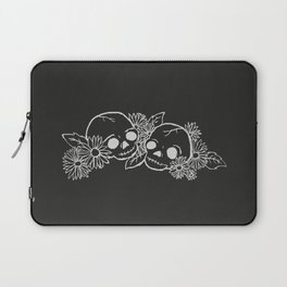Twin Skeletons Noir Laptop Sleeve