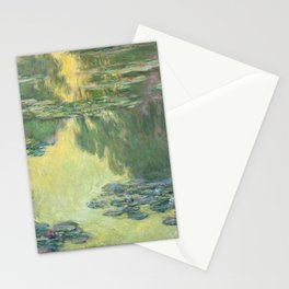 Claude Monet Water Lilies Impressionist Painting Stationery Cards