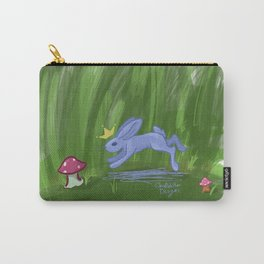 Lilac Bunny King Carry-All Pouch
